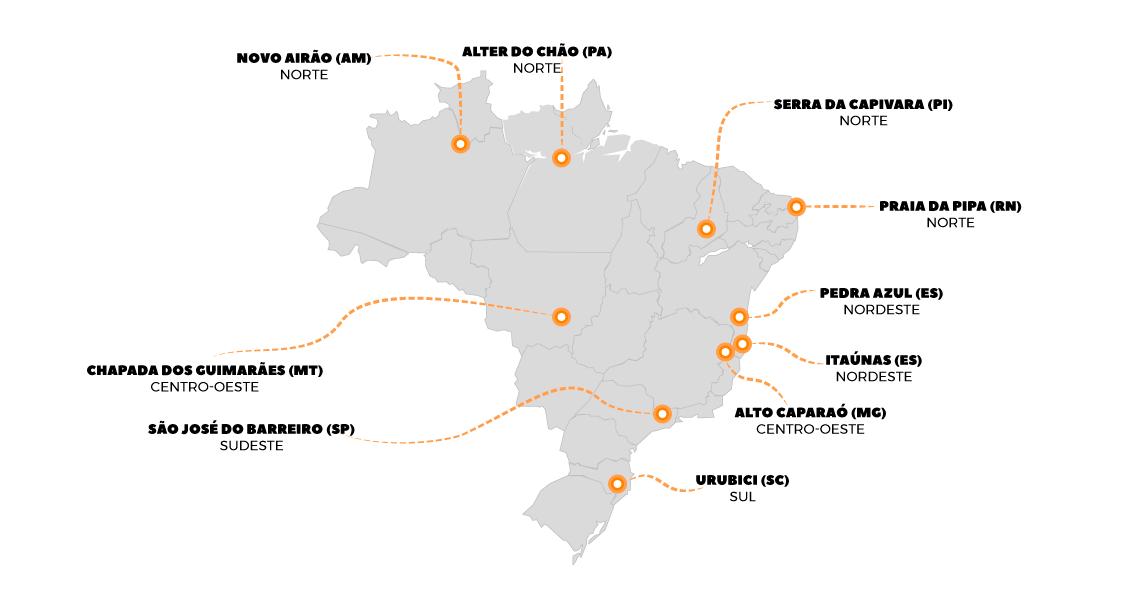 Conheça os lugares mais procurados para fazer ecoturismo no Brasil