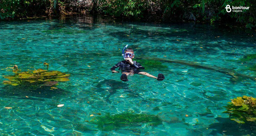 Bonito/MS em Outubro: Flutuação na Nascente Azul