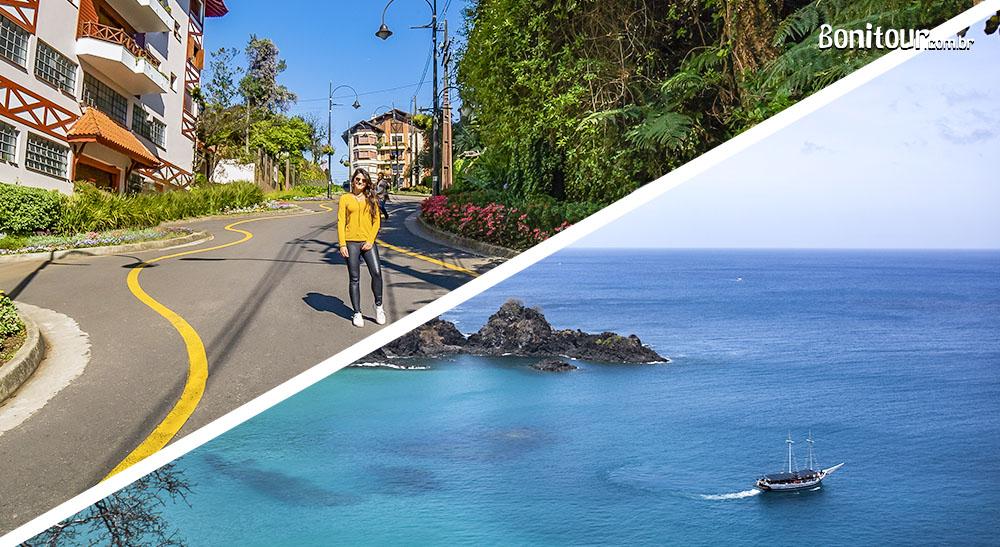 Onde viajar: Serra Gaúcha ou Fernando de Noronha?