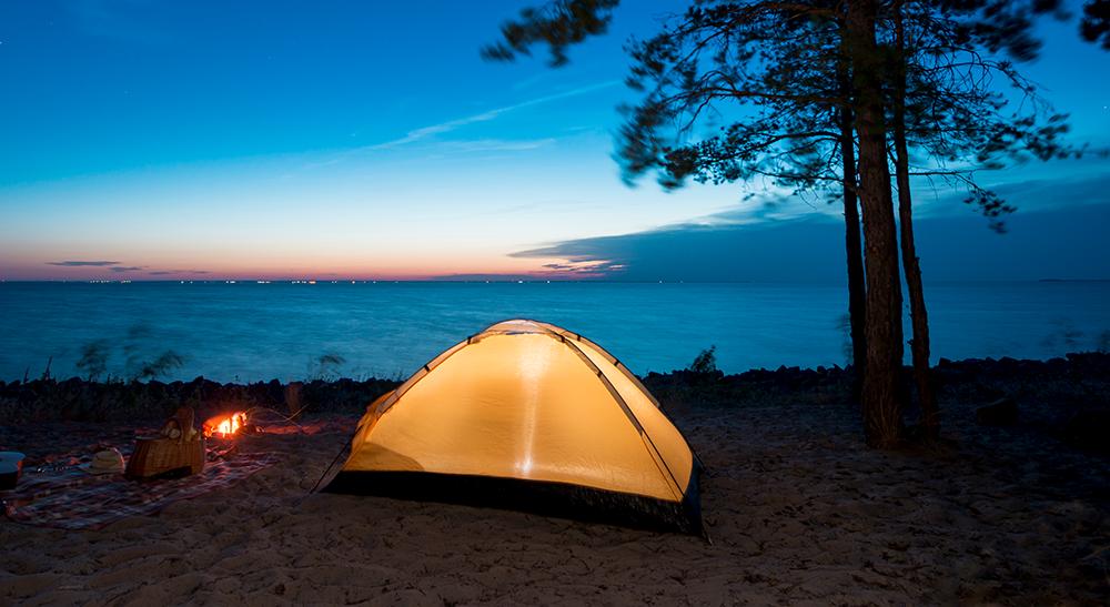 Barraca-de-acampar-armada