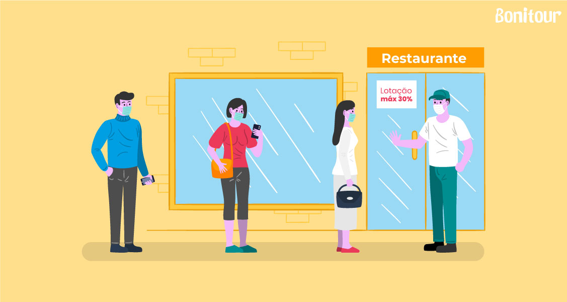 Ilustração-distância-social-em-filas