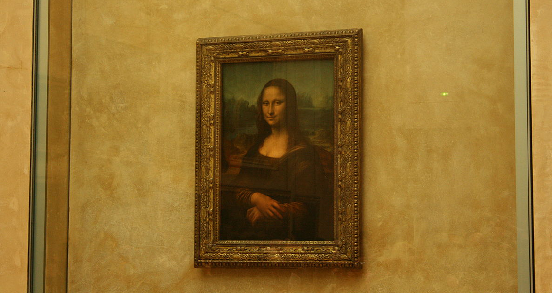 Quadro de Monalisa-no-Museu-do-Louvre