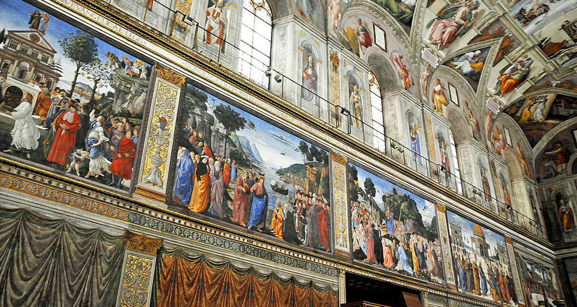 Pinturas-na-Capela-Sistina-na-cidade-do-Vaticano