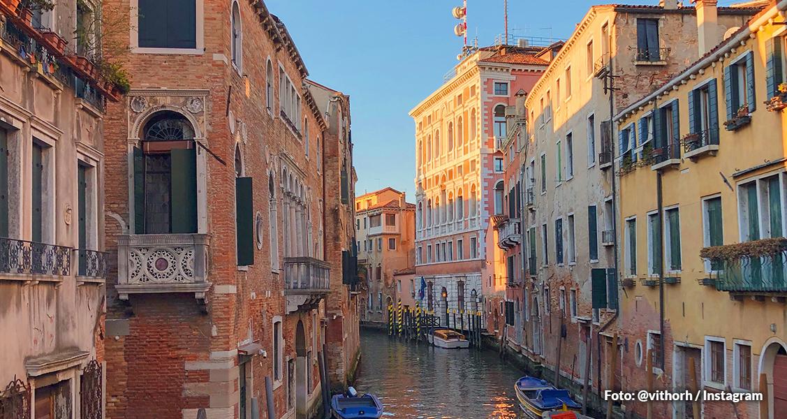 Vista de Veneza, Itália