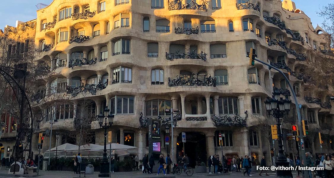 Casa Milá em Barcelona, Espanha