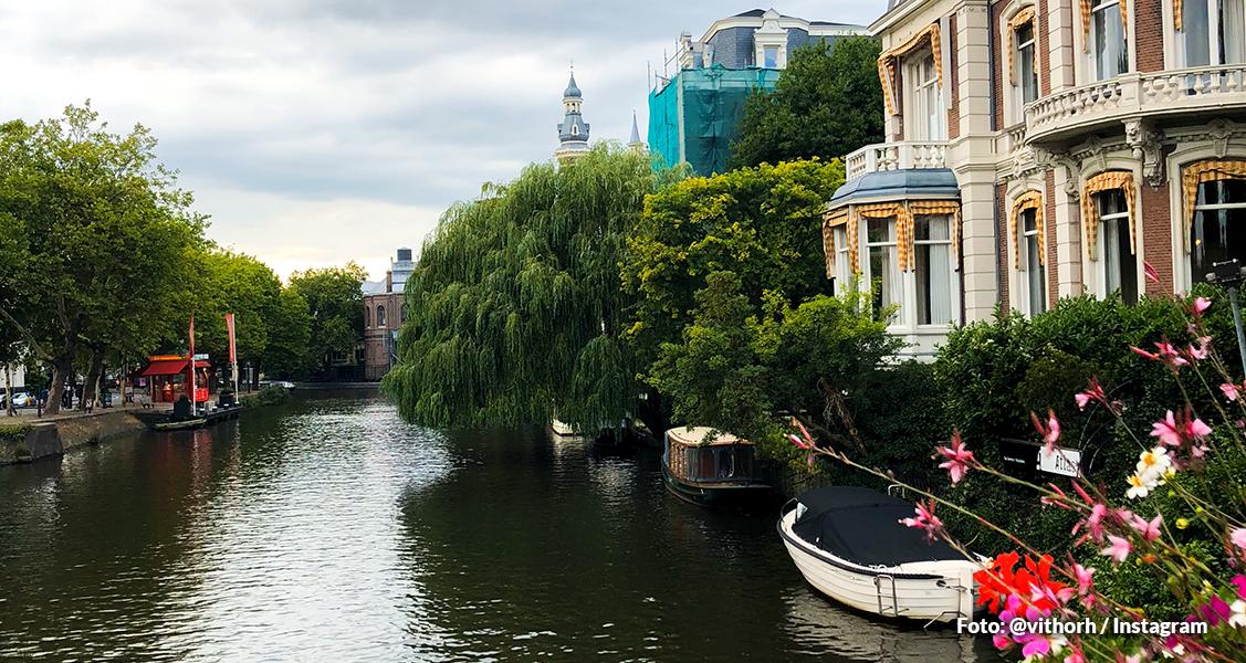 E a viagem pela Europa estava terminando - Na foto, vista de Amsterdã, Holanda