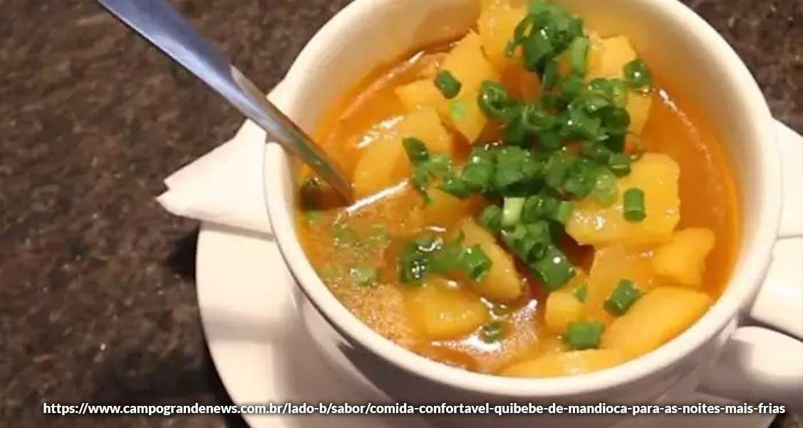 Pratos típicos de Bonito/MS: Quibebe de mandioca